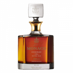Monaco Cognac 100 years extra old Crystal Carafe